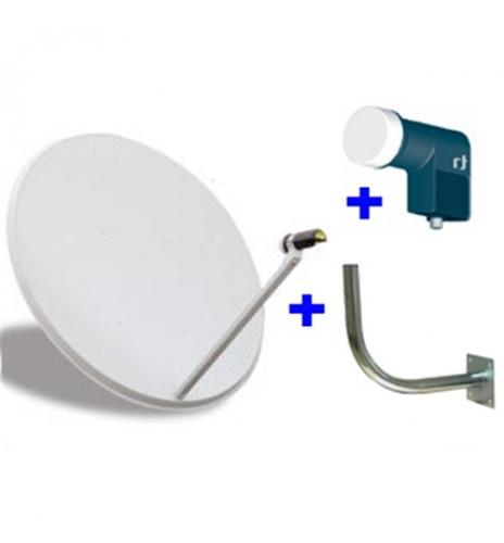Kit de Antena parabolica de 60 cm, más soporte más LNB Conversor universal