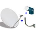 Kit de Antena parabolica de 60 - 80 cm, más soporte más LNB Conversor universal