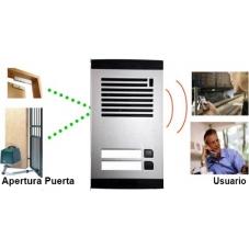 Portero GSM comunitario, varias viviendas, atiendan sus visitas desde el telefono móvil o fijo