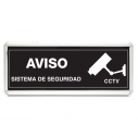 Warning sign CCTV surveillance for interiors