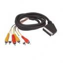 Cable Stereo euroconector a RCA 2 entrada/salida audio. 2 Entradas/salidas Video