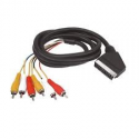 Cable Scart to 2 RCA Stereo audio in / out. 2 Inputs / Outputs Video